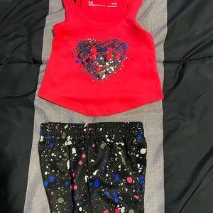 2/$30 Baby girls UA tank top and short set.